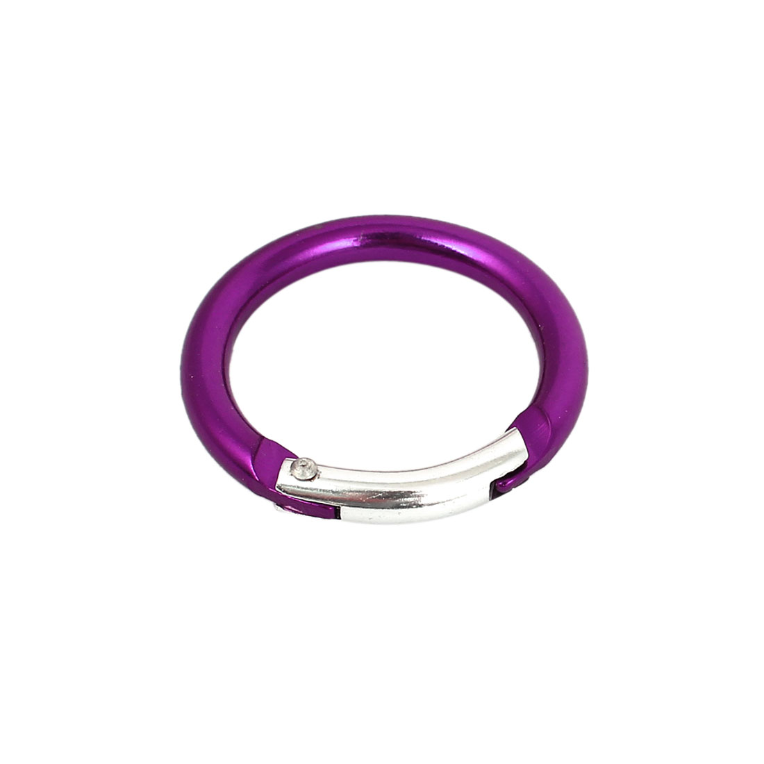 Aluminum Round Travel Camping Hiking Clip Hook Keychain Carabiner Purple