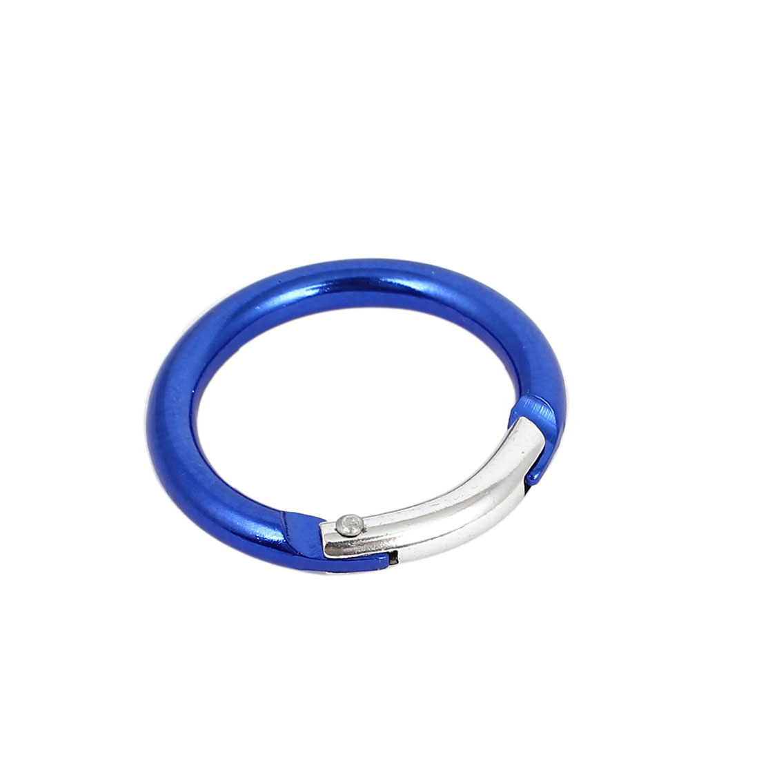 Travel Camping Hiking Aluminum Round Clip Hook Keychain Carabiner Blue