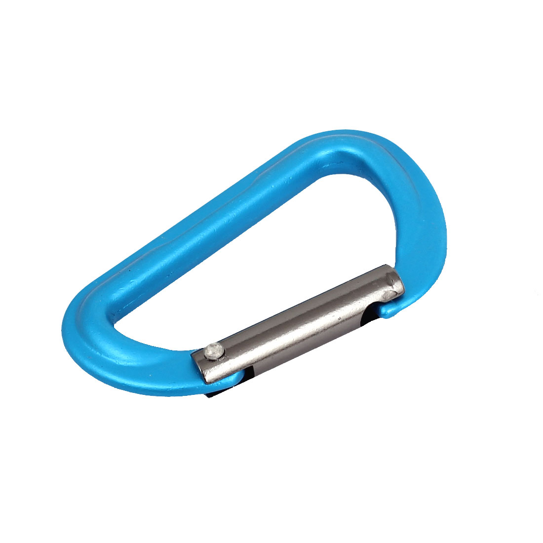 Aluminum D-Ring Travel Camping Hiking Clip Hook Keychain Carabiner Blue