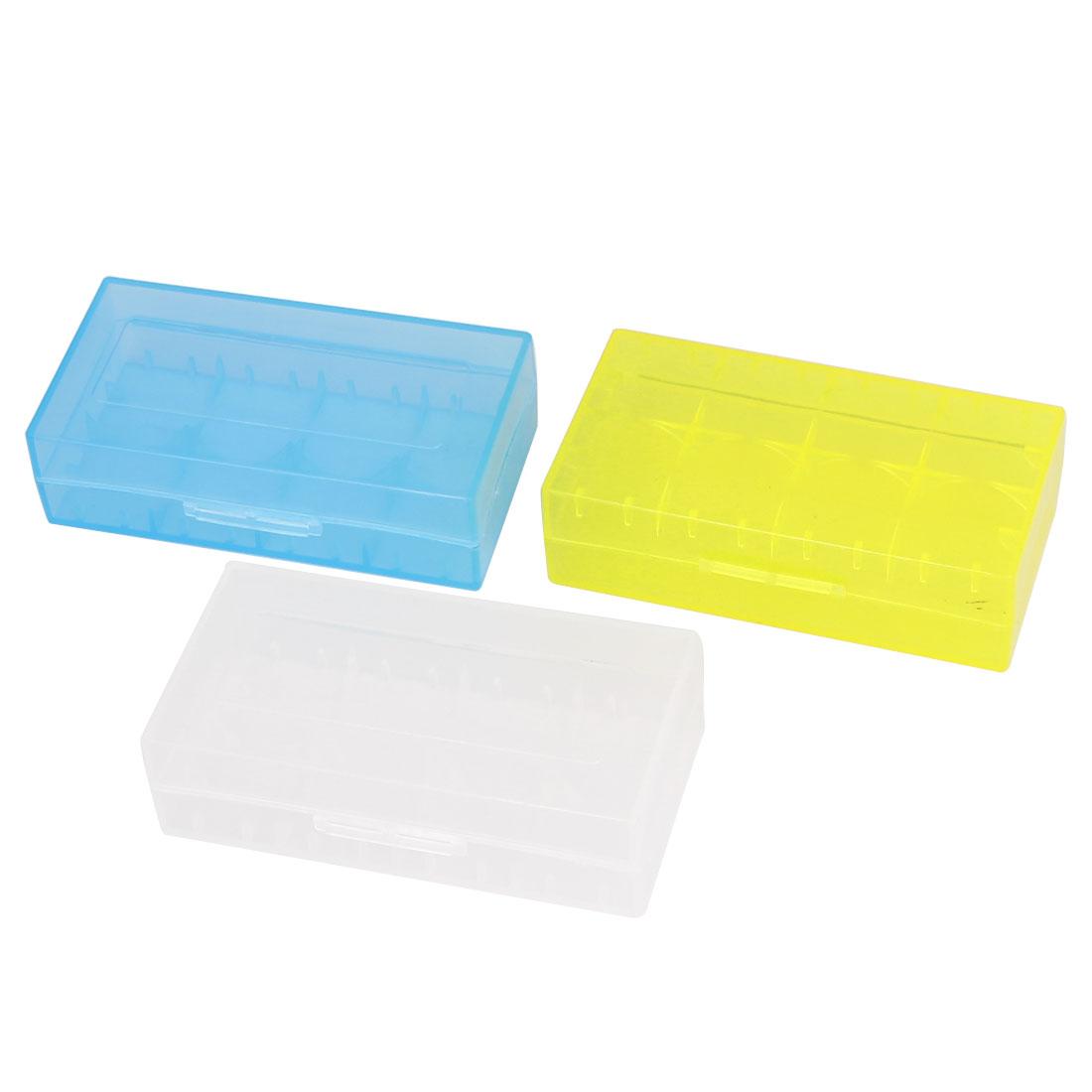 Multicolor Storage Box Case Container 3Pcs for 4 x CR123A Batteries