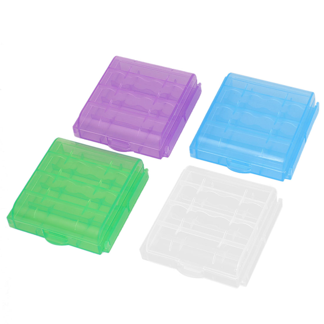 Multicolor Storage Box Case Container 4Pcs for 4 x AA Batteries