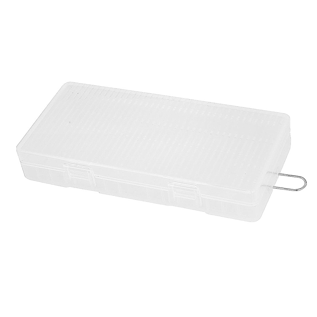 Clear Rectangle Storage Box Case Container for 8 x AA Batteries