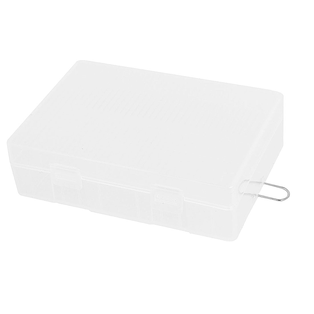 Clear Rectangle Storage Box Case Container for 4 x 26650 Batteries