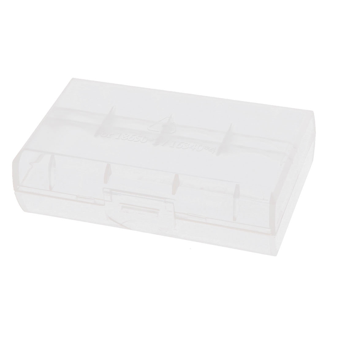 Clear Rectangle Storage Box Case Container for 2 x 18650 Batteries