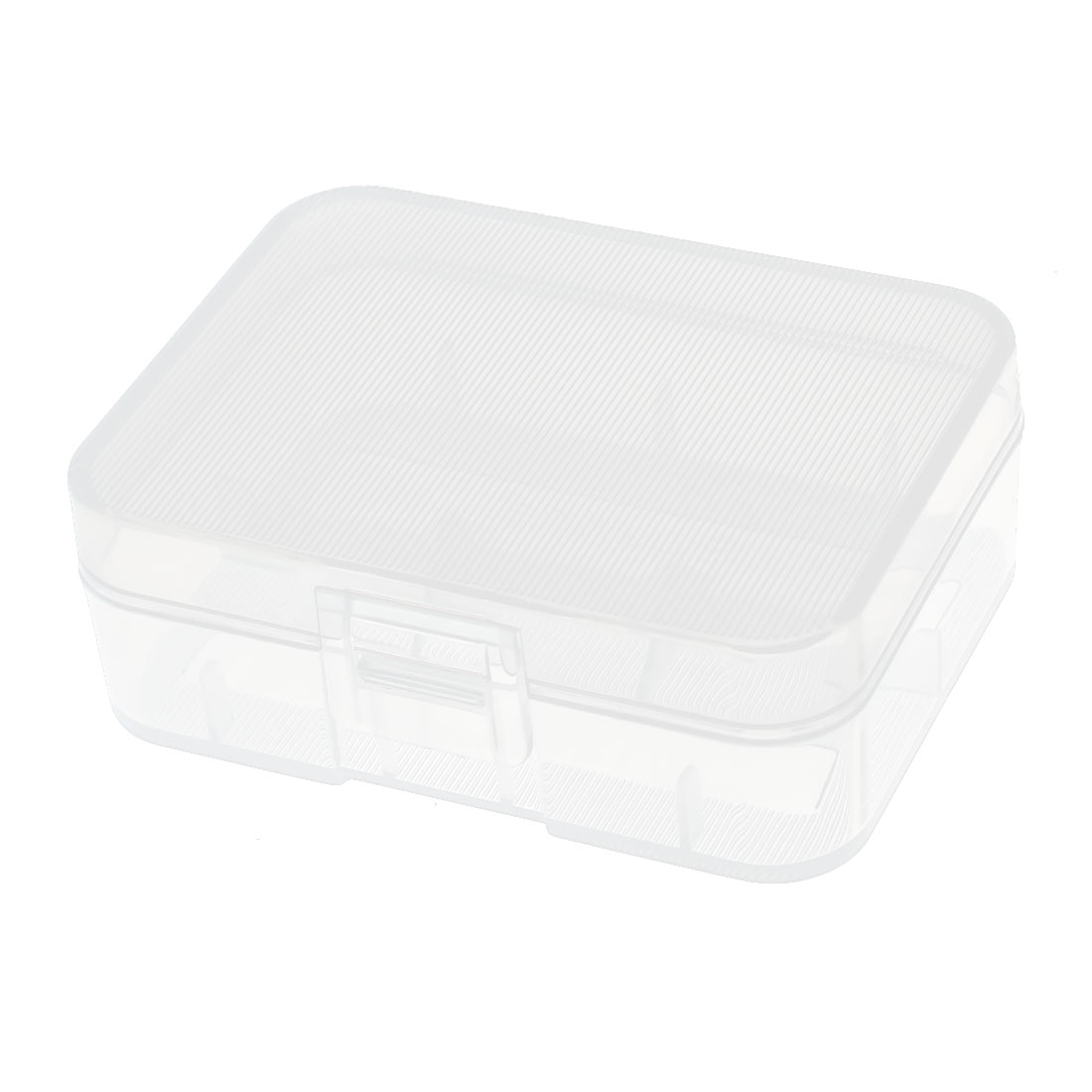 Clear Rectangle Storage Box Case Container for 2 x 18500 Batteries