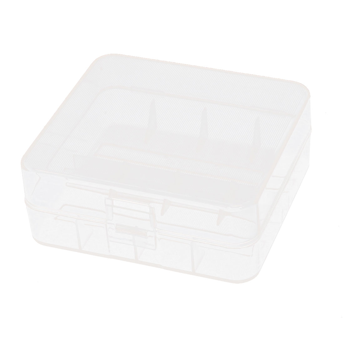 Clear Rectangle Storage Box Case Container for 2 x 26650 Batteries