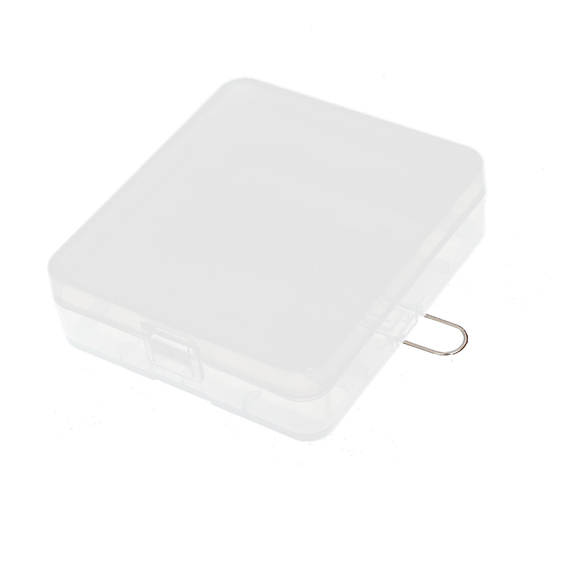Clear Rectangle Storage Box Case Container Holder for 4 x 18650 Batteries