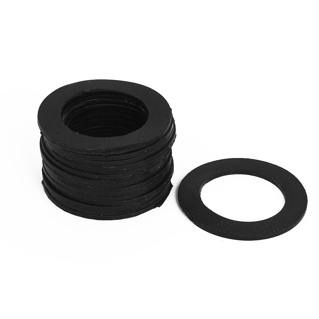 Rubber Gasket Sealing Seal O Ring 49x33x8mm 15Pcs Black for Water Meter