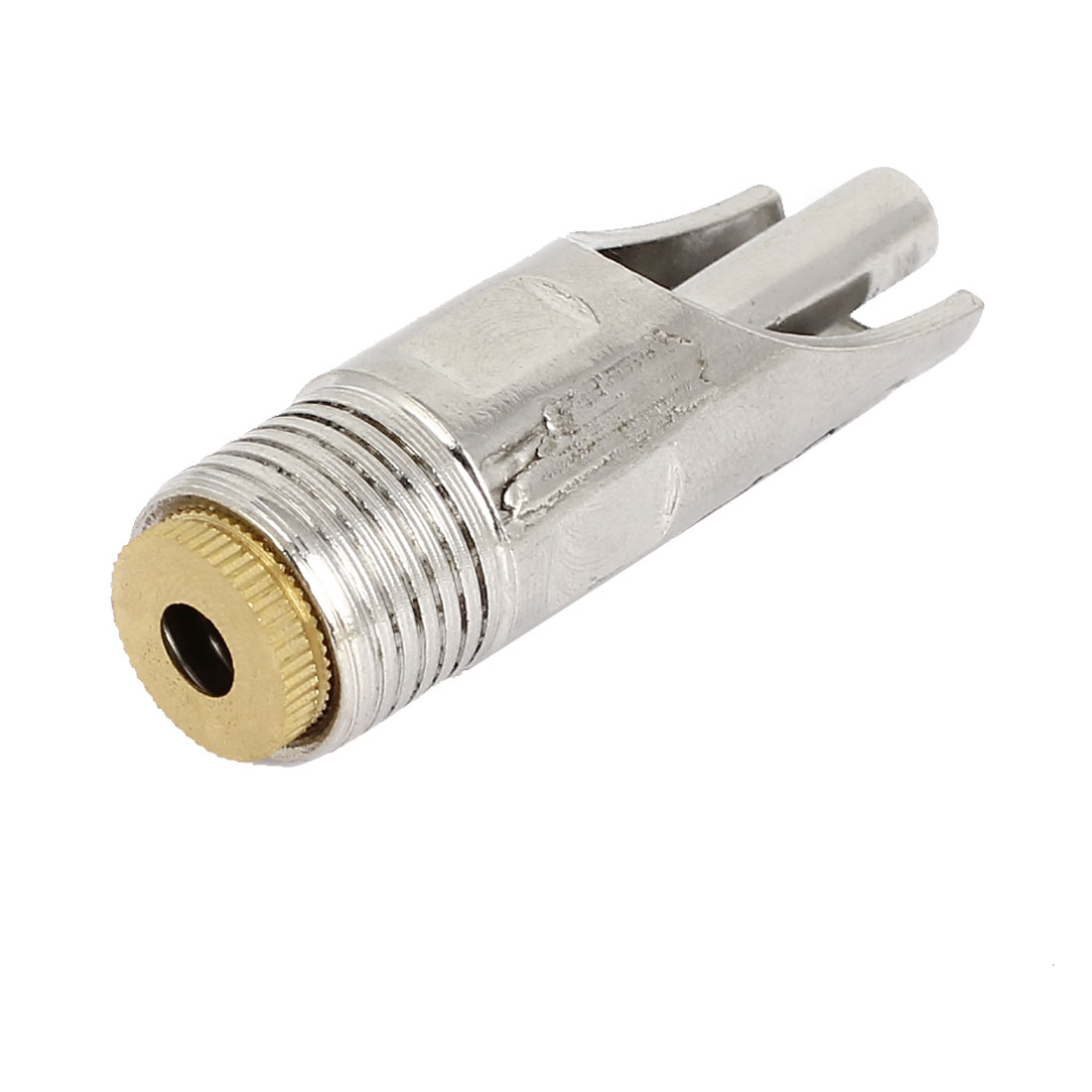 Pet Piggy Silver Tone Screw Connecting Type Drinking Valve Nipper