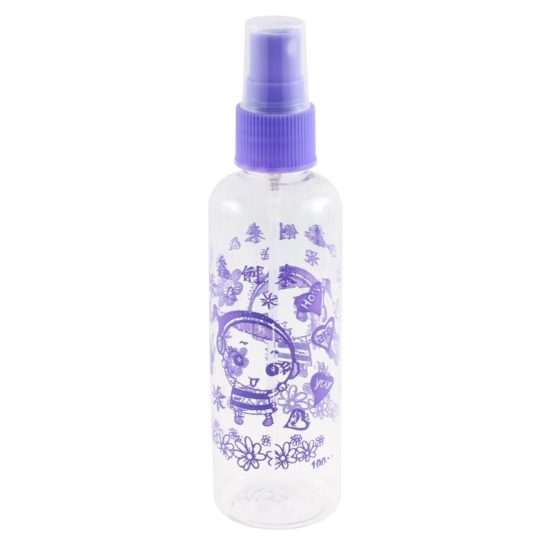 Plastic Portable Perfume Containers Spray Atomizer 100ml Empty Bottles Purple