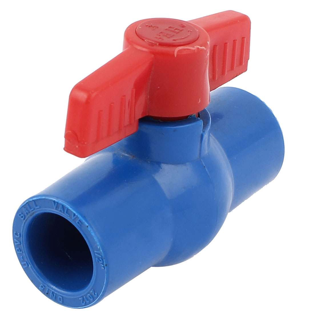 Plastic 20mm to 20mm Red Rotary Knob Tap Faucet Water Adjust Stop Valve