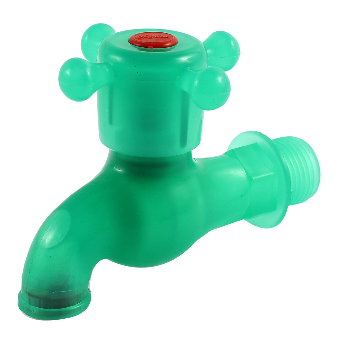 Plastic Kitchen Basin Sink 1/2 BSP Male Thread Dia Turn Handle Water Tap Faucet Green