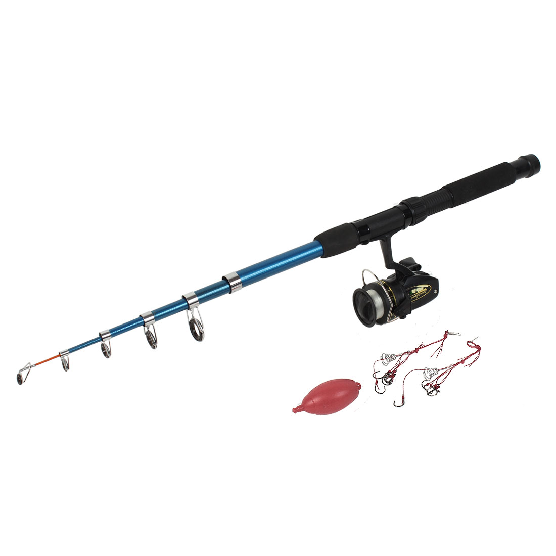 7Ft 6 Sections Telescope Fishing Rod Set Casting Spinning Sets