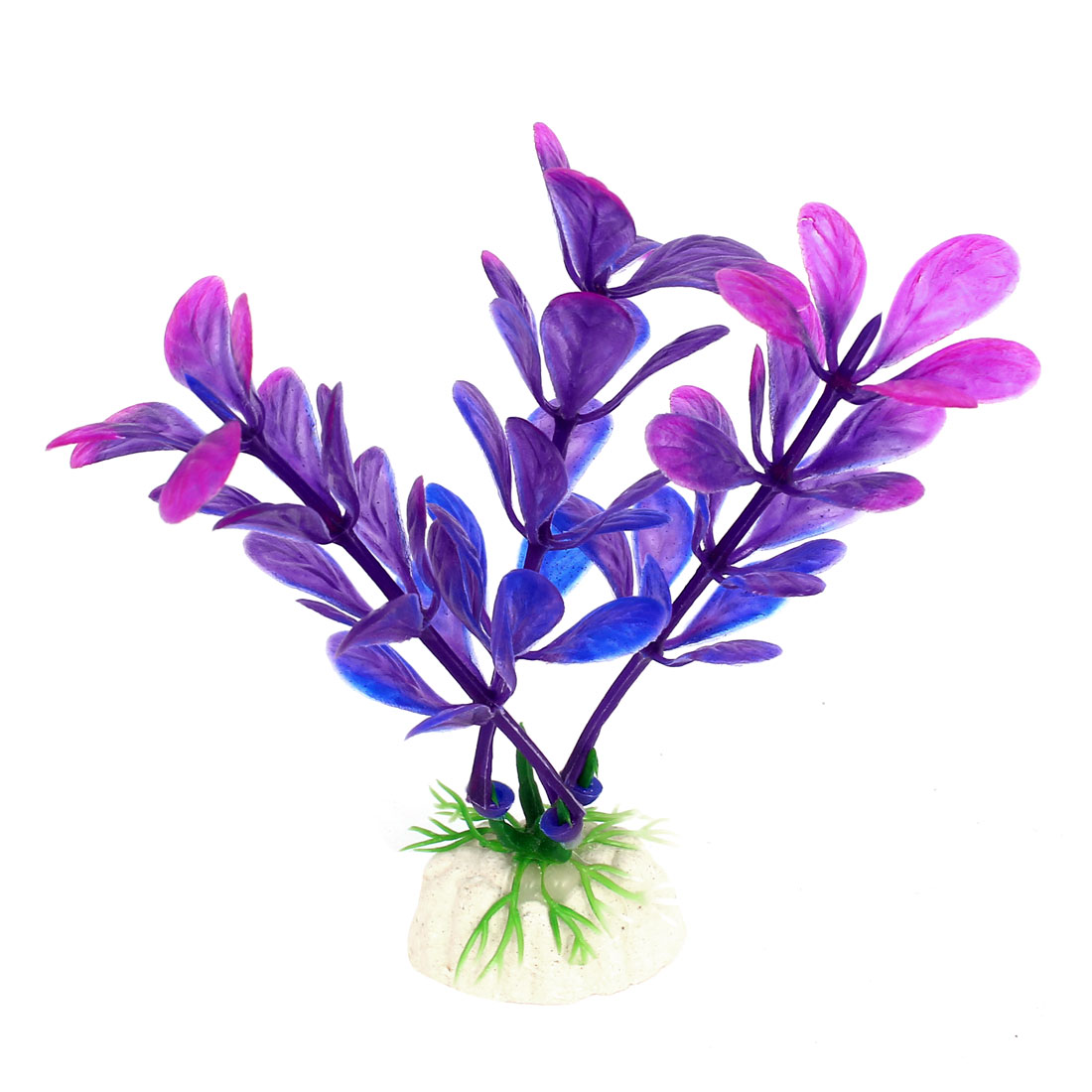 Artificial Fake Plastic Aquarium Plant Fish Tank Decoration Purple