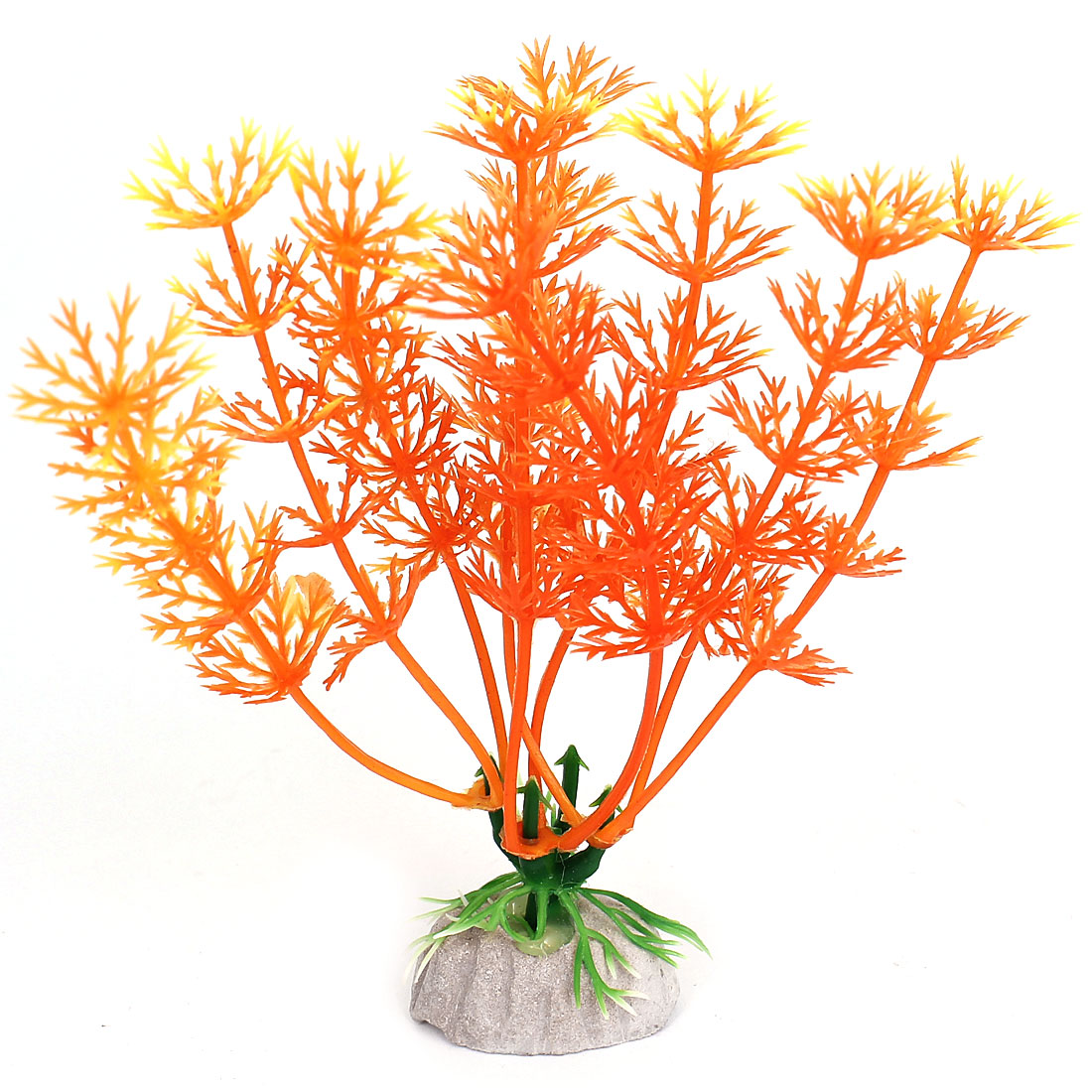 Emulational Plastic Aquarium Underwater Plant Fish Tank Decoration Orange