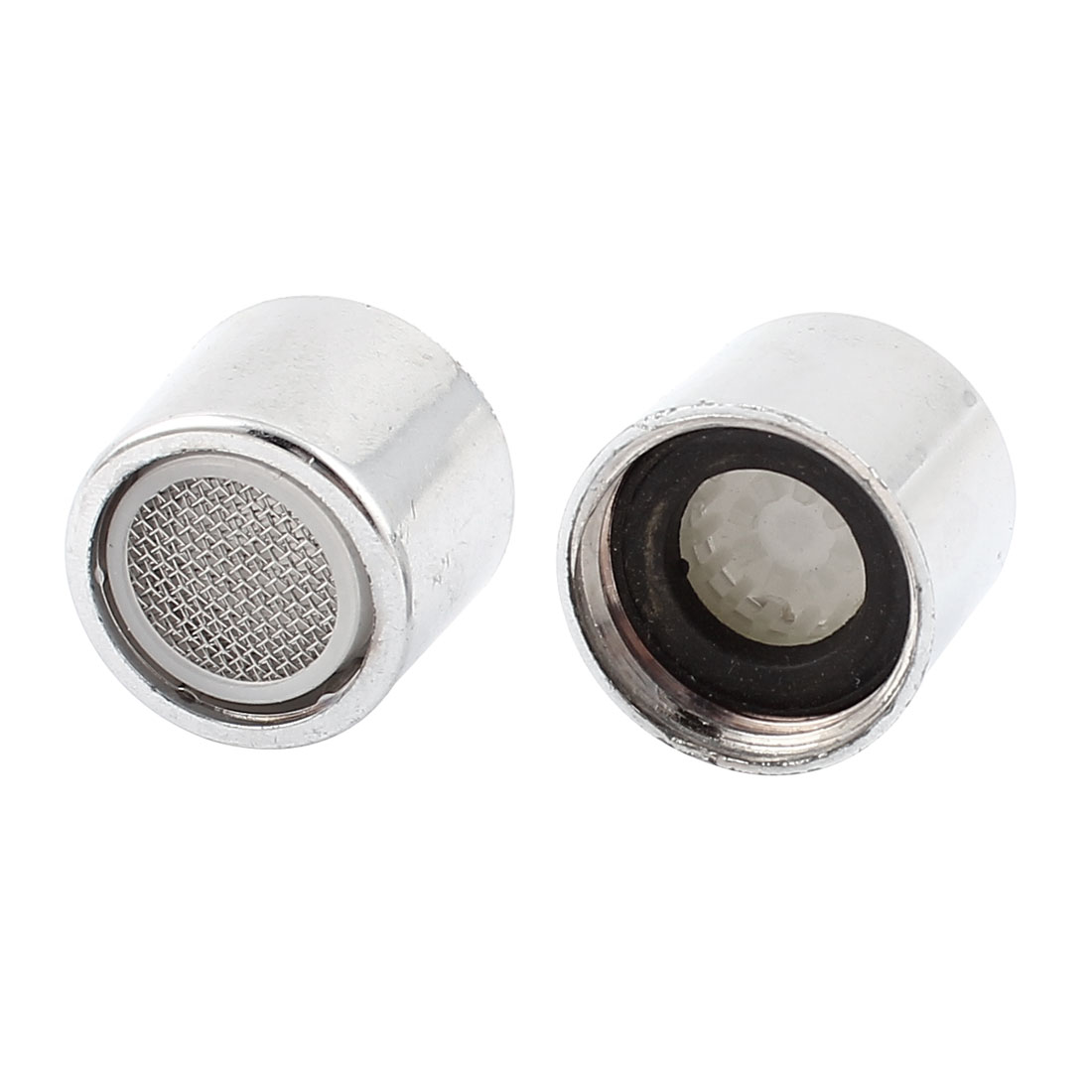 Kitchen Silver Tone 20mm Female Thread Water Tap Filter Nozzle 2 Pcs