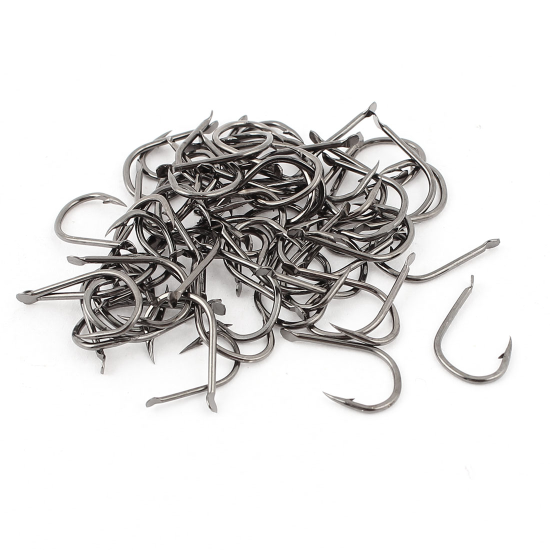 64 Pcs 9# Metal Eyeless Sharp Bait Barb Fishing Hook Fishhook