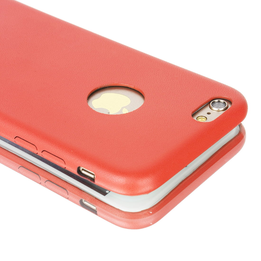 Luxury Ultra-thin PU Leather Hard Back Case Cover For Apple iPhone 6 Red