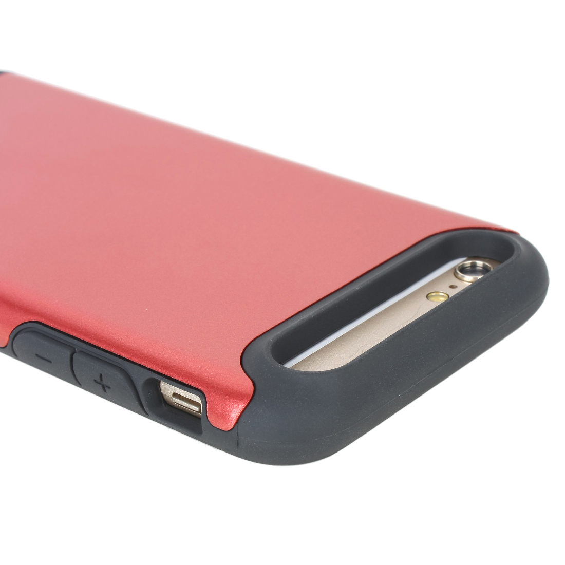 Shockproof Slim Hybrid Hard Rugged Cover Wallet Case for Apple iPhone 6 Red