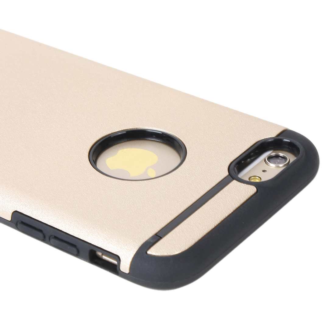 Shockproof Rugged Hybrid Rubber Hard Cover Case For Apple iPhone 6 Plus Gold Tone
