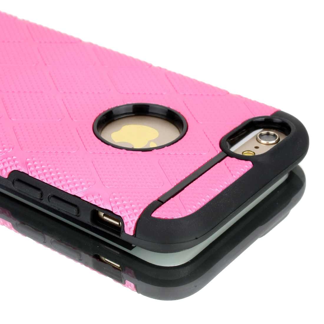 Shockproof Rugged Hybrid Rubber Hard Cover Case for Apple iPhone 6 Fuchsia