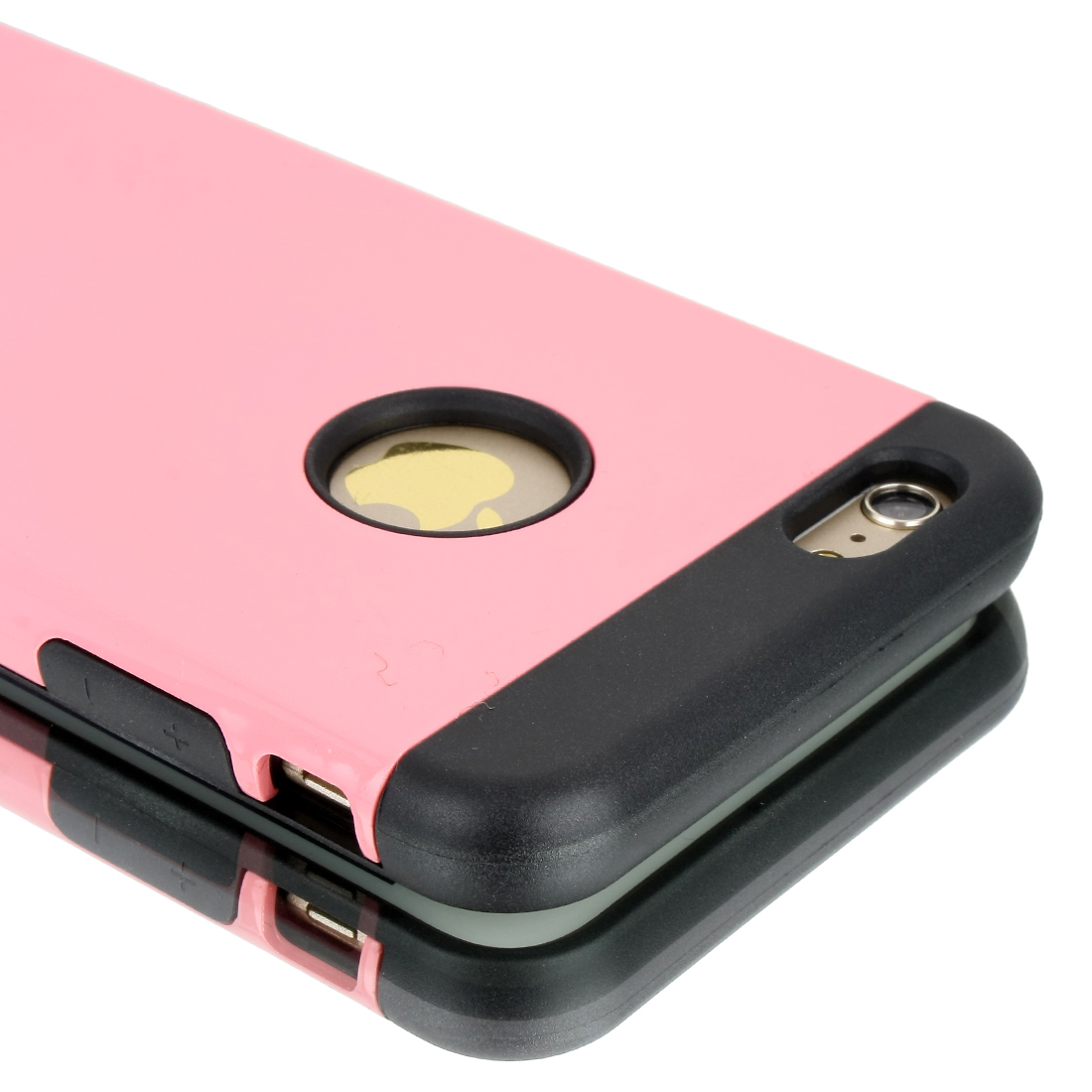 Luxury Phone Case For iPhone 6 Plus Protection Cover With Holder Stand Pink