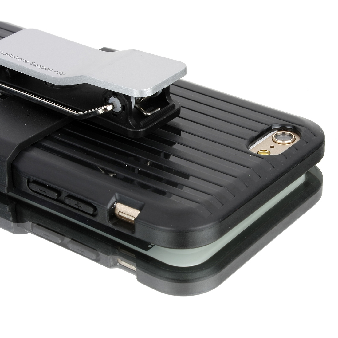 Rugged Hard Case Cover Belt Clip Holster Stand for Apple iPhone 6 4.7 inch Black