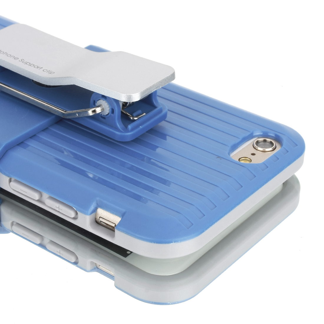 Rugged Hard Case Cover Belt Clip Holster Stand for Apple iPhone 6 4.7 inch Blue