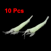 Artificial Silicone Shrimp Shape Fishing Fish Baits Lures 10 Pcs Cyan