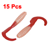 Artificial Red Silicone Worm Shaped Fishing Baits Lures 15 Pcs