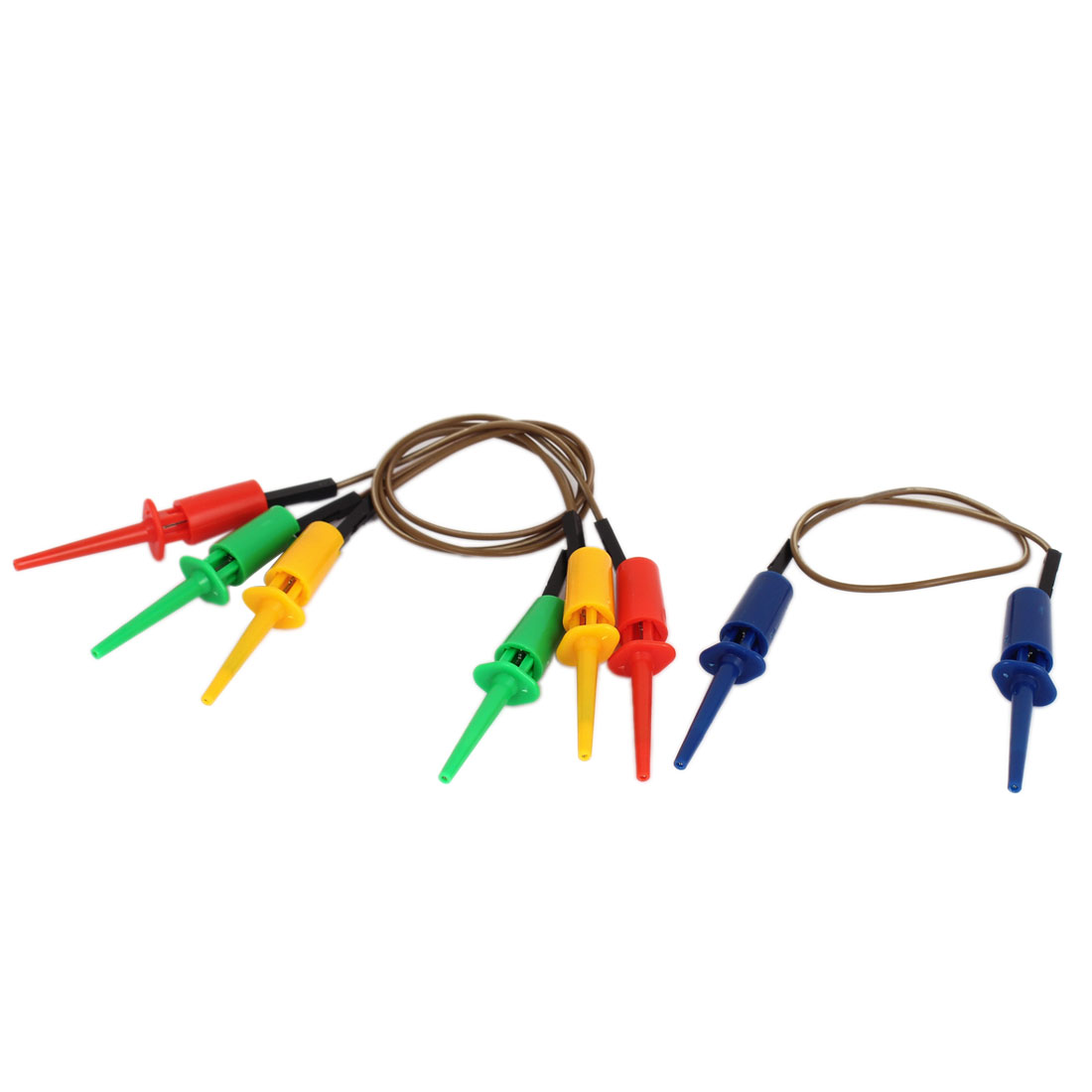 4pcs 28cm Female to Female Test Hook Clip Leads Probe Jumper Cable 4 Colors