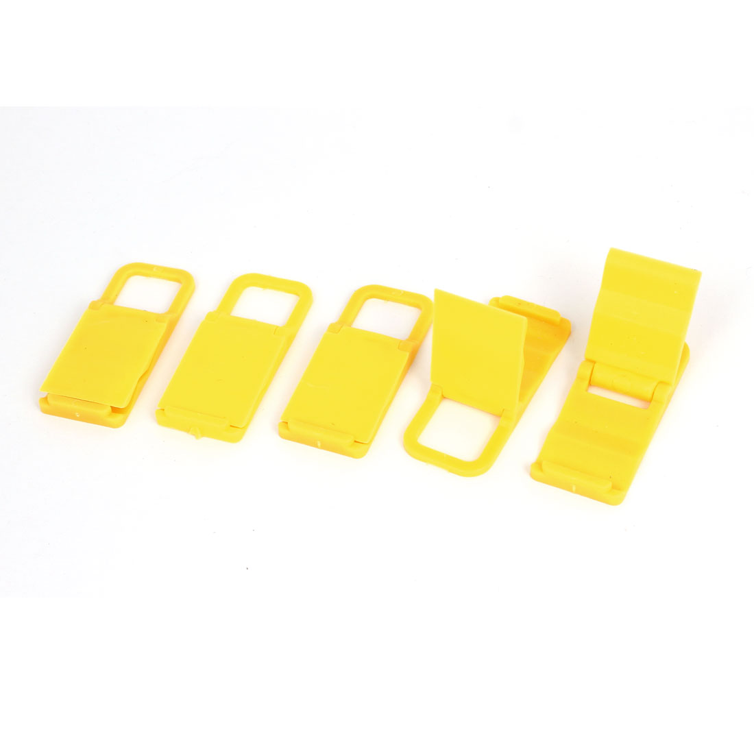 5pcs Desktop Foldable Chair Universal Mobile Phone Holder Stand Bracket Yellow