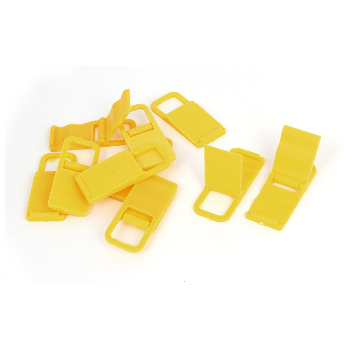 10pcs Plastic Beach Chair Mobile Phone Folding Holder Stand Bracket Support Yellow