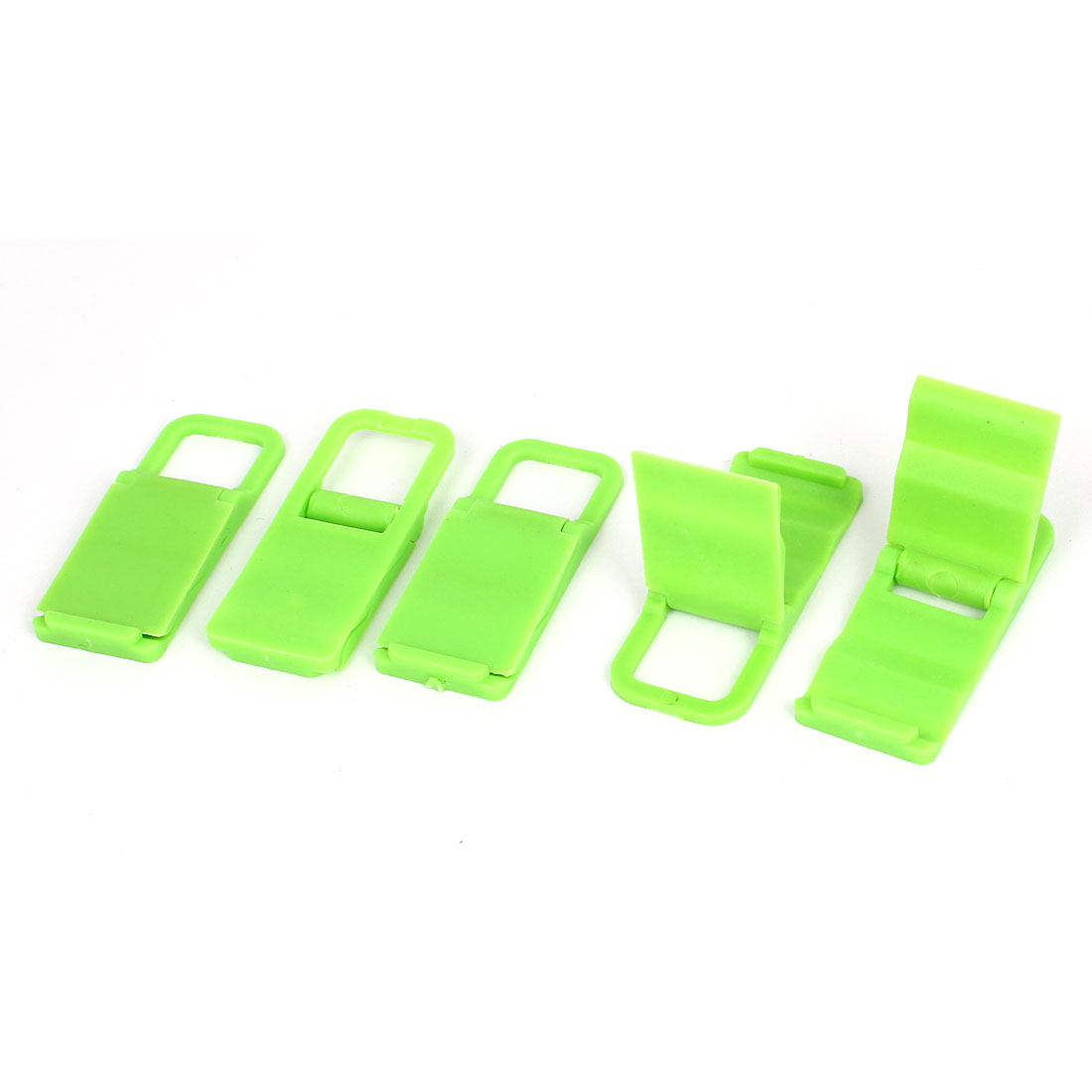 5pcs Desktop Foldable Chair Universal Mobile Phone Holder Stand Bracket Green