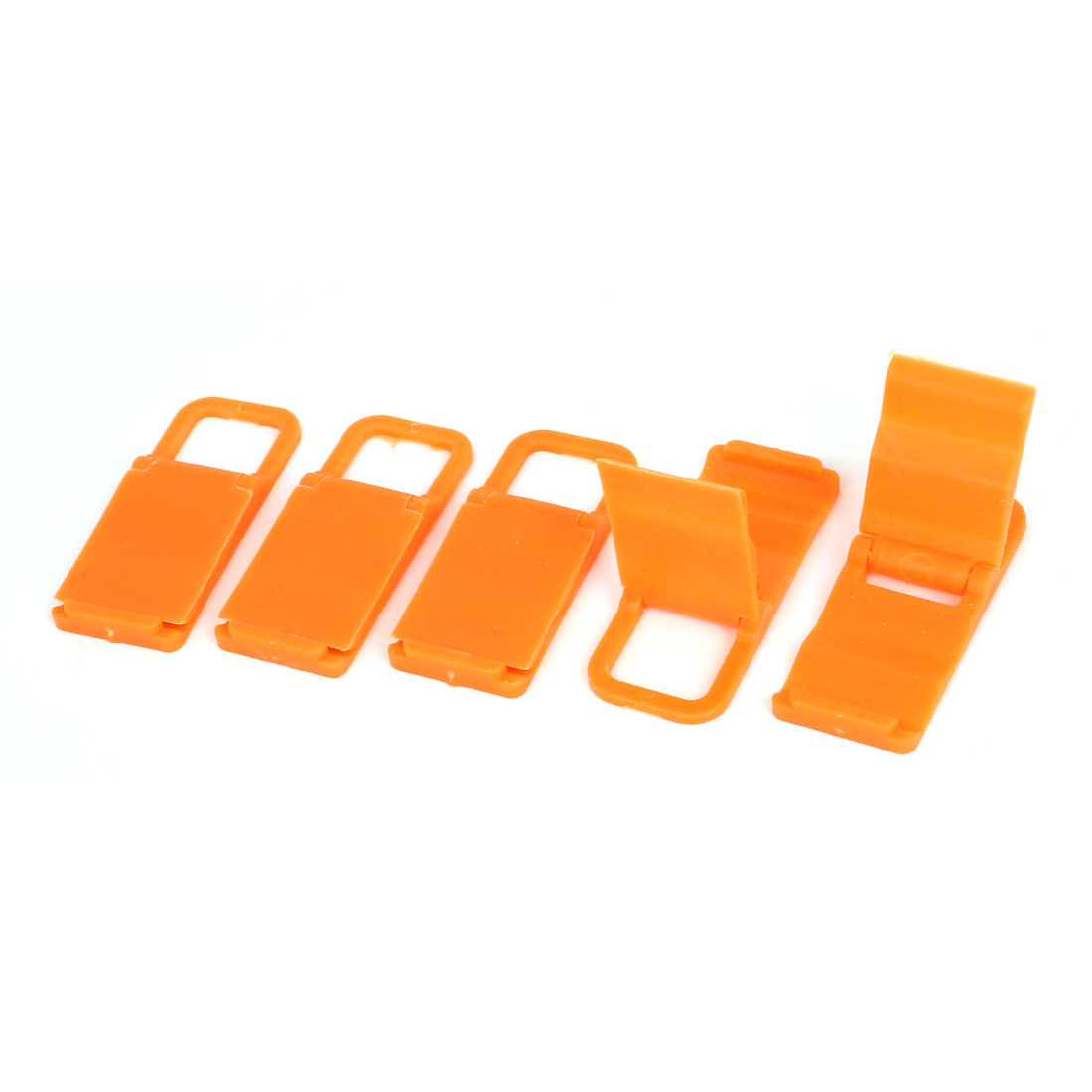 5pcs Desktop Foldable Chair Universal Mobile Phone Holder Stand Bracket Orange