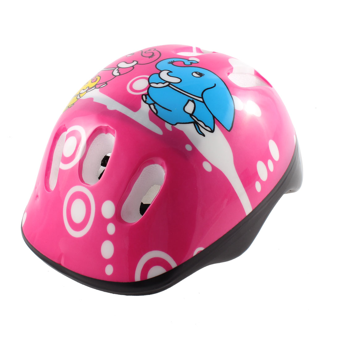 Skateboard Hole Design Elephant Pattern Protective Head Student Cap Pink