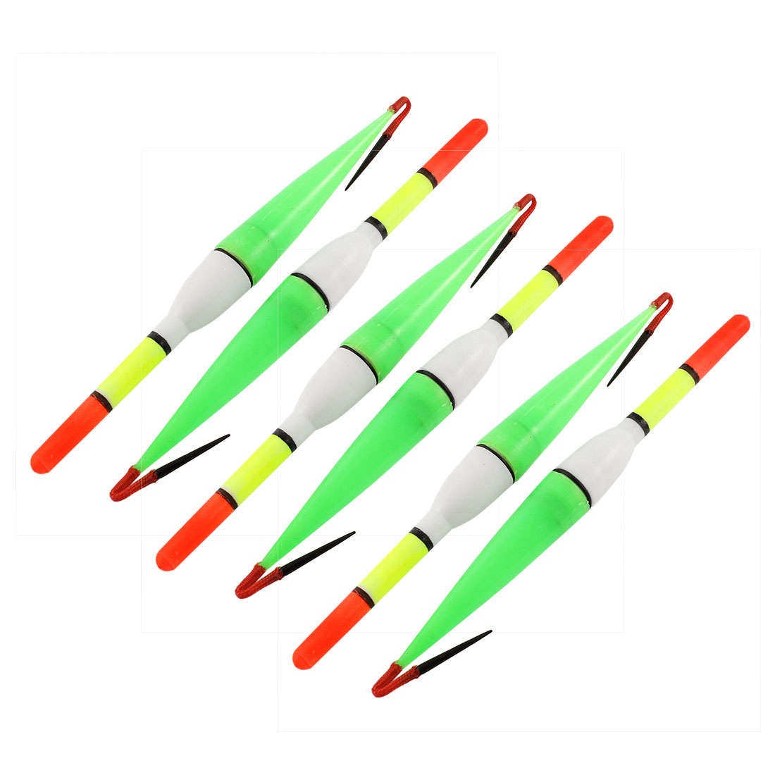 "6 Pcs Multicolor Floating Fish Bobbers Indicator Floater 7"" Length"