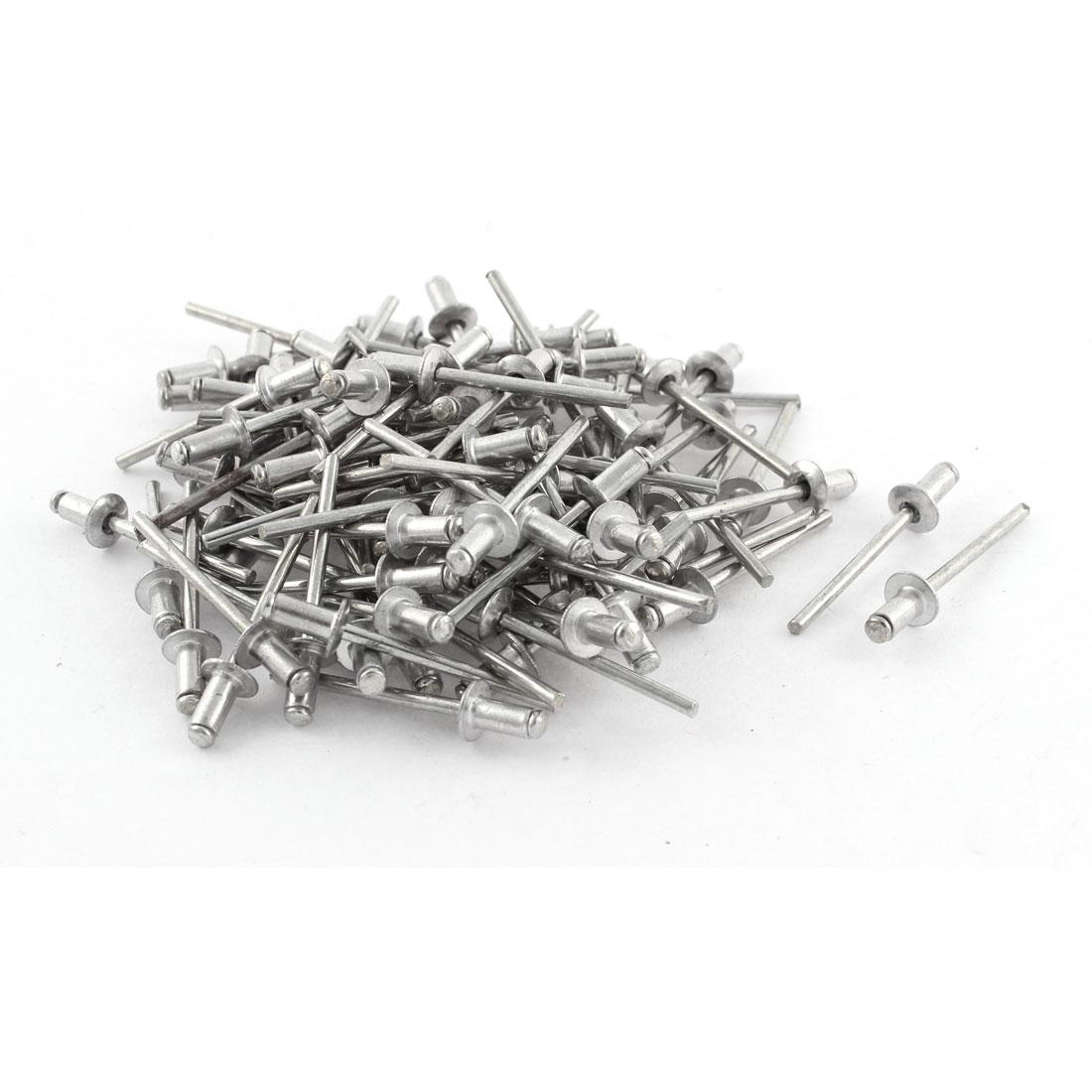 2mm Tip Diameter Aluminum Mechanical Lock Type Self-plugging Rivets 97 Pcs