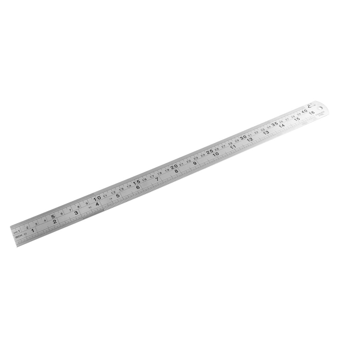Stainless Steel Double Side Measuring Tool Straight Ruler 40cm 16 Inches