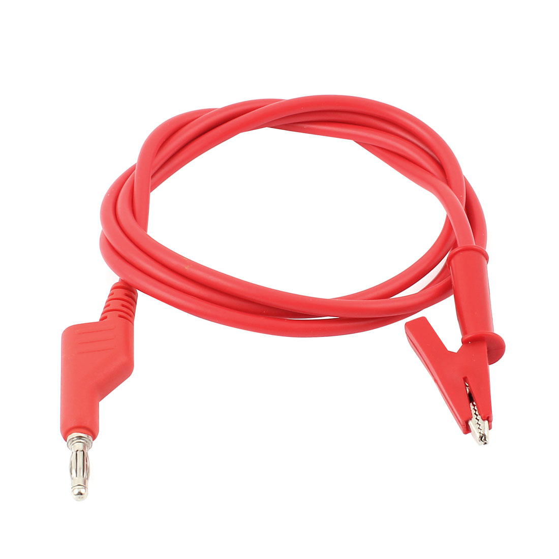 Red Alligator Clip Test Lead to Banana Connector Probe Cable 110cm Long