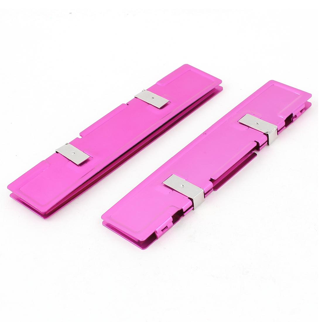 DDR DDR2 DDR3 RAM Memory Aluminium Heatsink Spreader Cooler Cooling Pink 2Pcs
