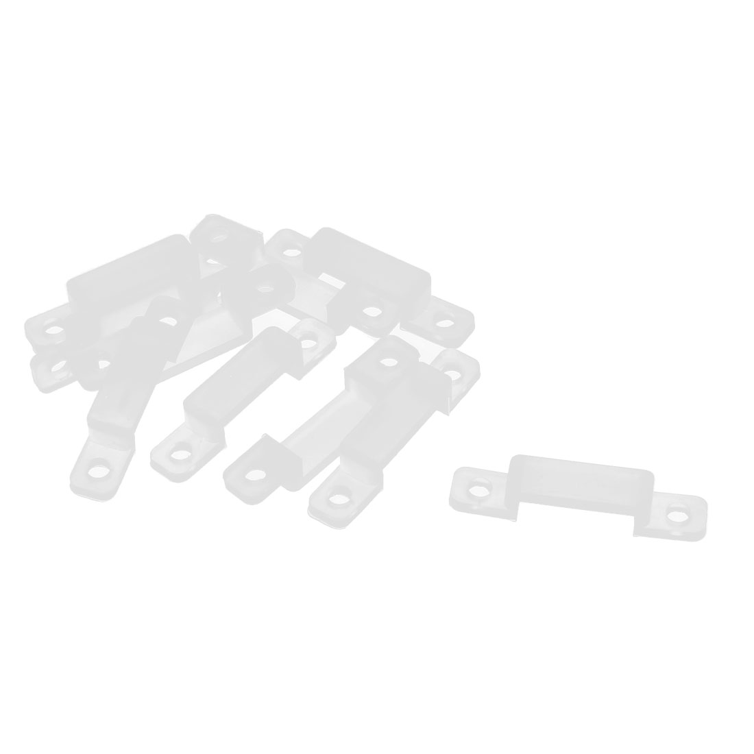 10 Pcs Silicone Fix Mounting Brackets Clip for 14mm 3528 5050 5630 LED Strip Light