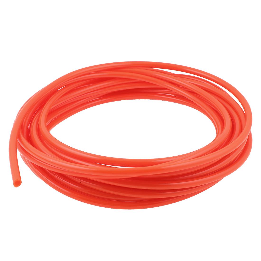 15M Long 10mmx6.5mm Air Fuel Gas Polyurethane Flexible PU Hose Tube Pipe Orange