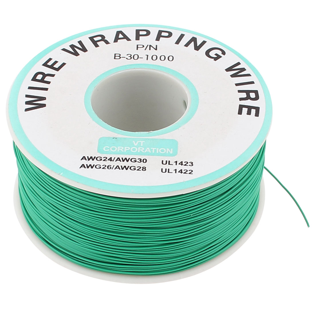 Green Flexible P/N B-30-1000 30AWG 250M Breadboard Wrapping Wire Wrap Spool Reel