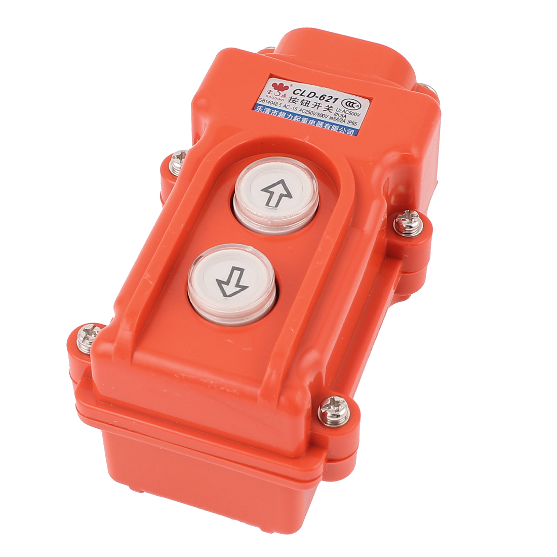 AC 500V 5A Hoist Crane Pendant Up-Down Rain Proof Pushbutton Switch CLD-621