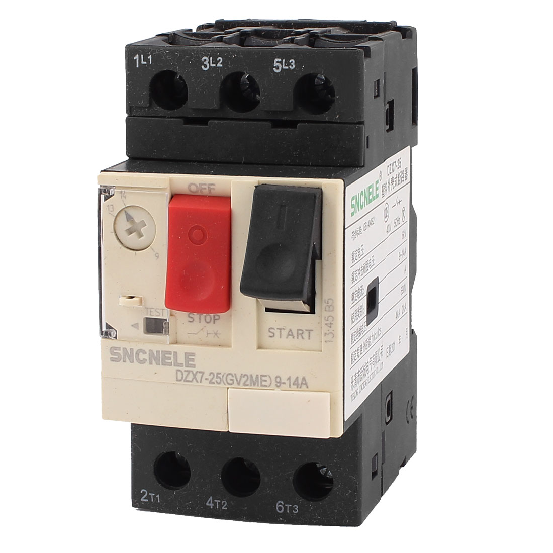 690V 6KV 9-14A 3 Phase Thermal Magnetic Motor Protection Circuit Breaker