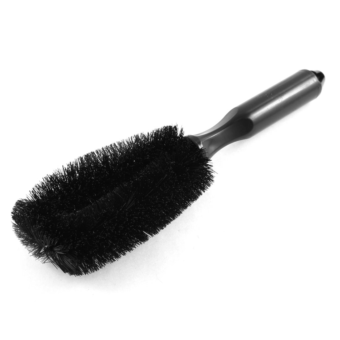 26cm Long Black Handle Wheel Tire Rim Cleaning Tool Brush for Car