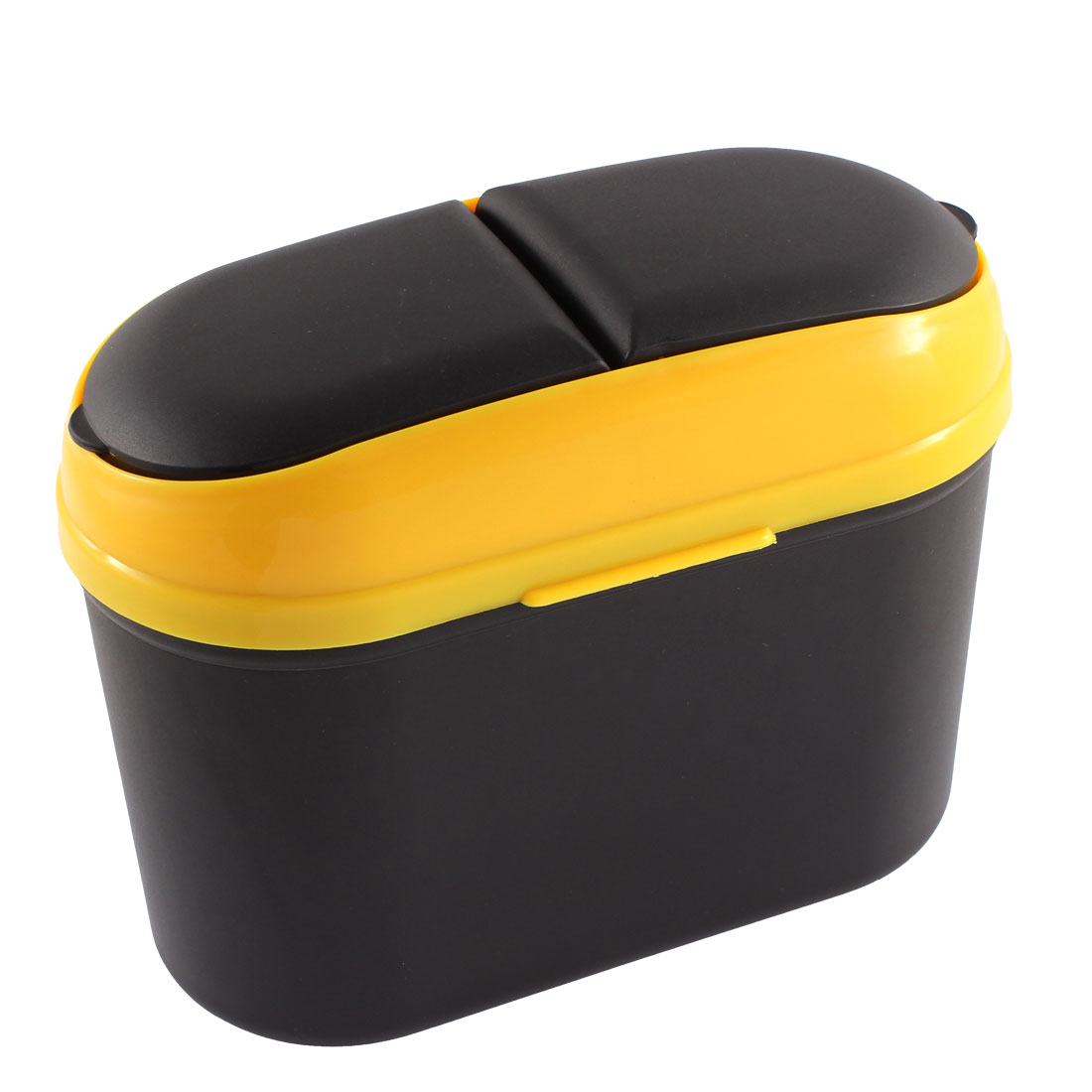 Car SUV Trash Rubbish Can Garbage Dust Dustbin Box Case Holder Bin Hook Black Yellow