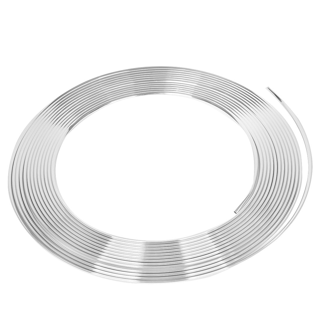 Car Decoration 15M x 6mm Silver Tone Plastic Moulding Trim Strip Adhesive Tape