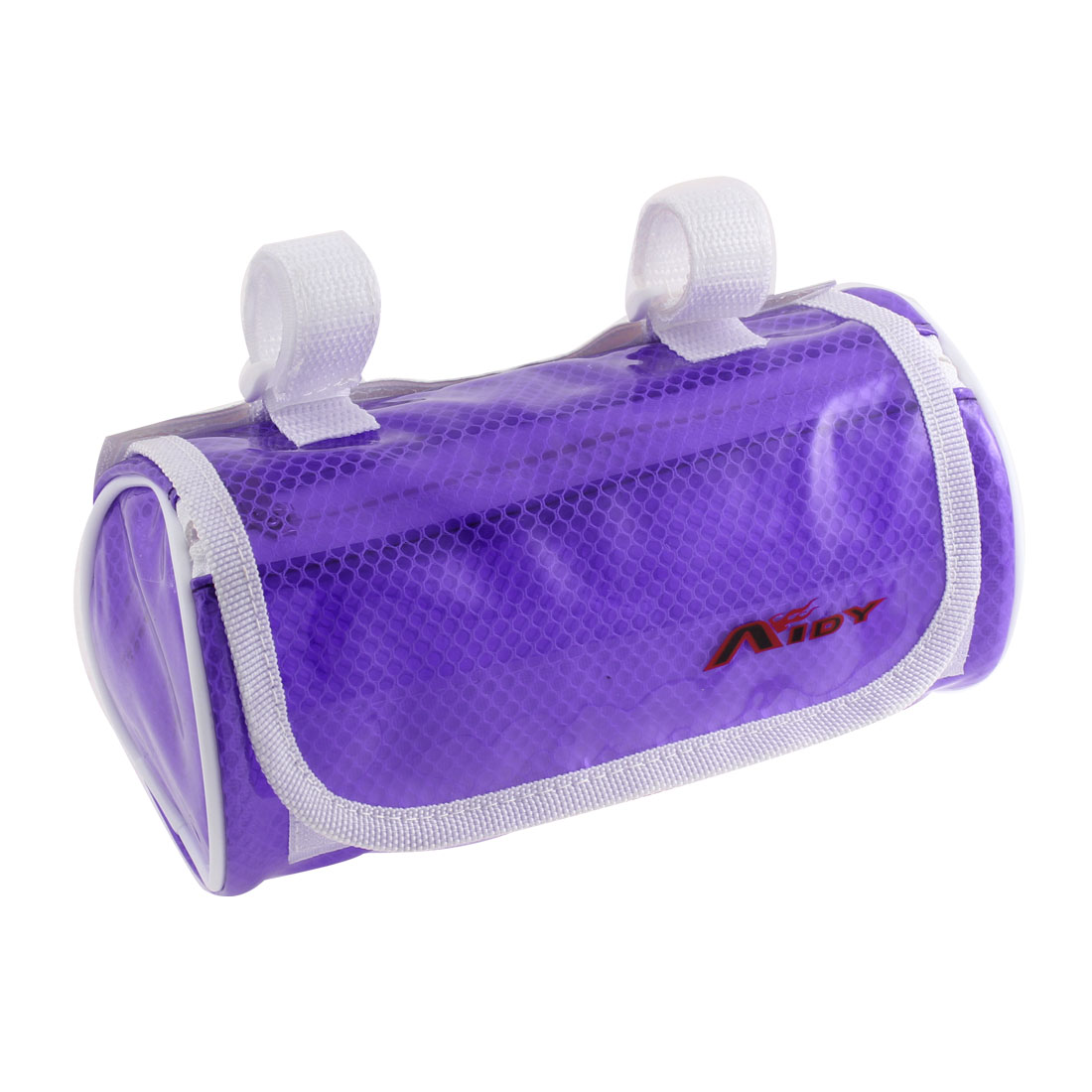 Cycling Bike Bicycle Front Pannier Basket Water Resistant Handlebar Bar Pouch Bag Clear Purple